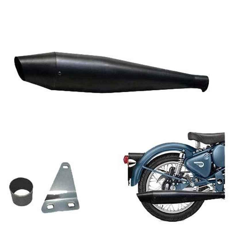AllExtreme EX090A Full Black Dolphin Silencer with Glasswool & Bush