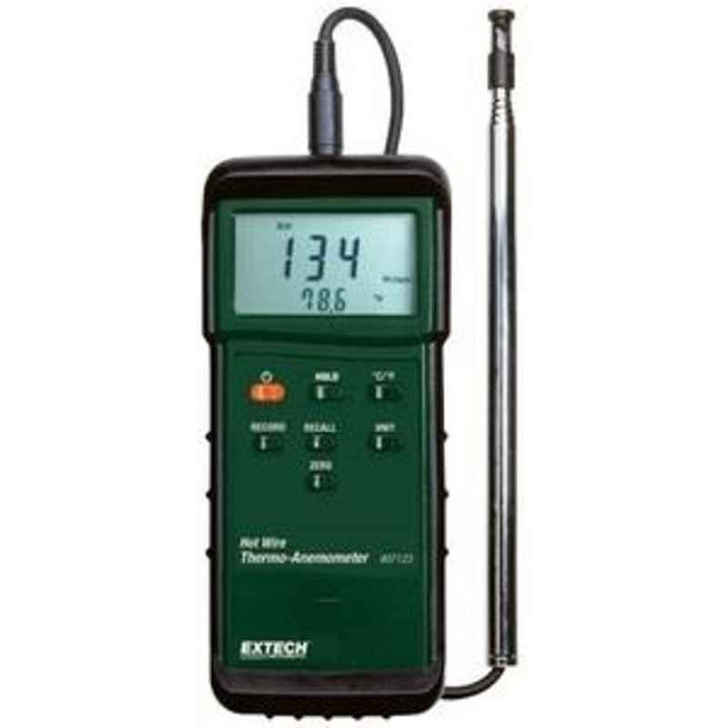 Extech 407123 Velocity Range 0.2 to 25m/s Hot Wire thermo-anemometer