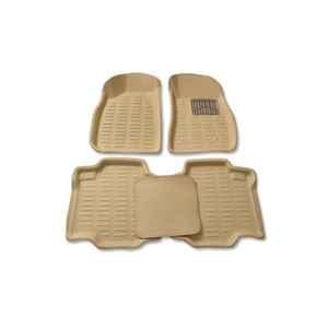 Oscar 3D Beige Foot Mat For Ford Fiesta 2005-2011 Set