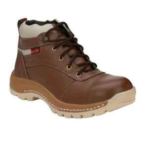 Kavacha S47 Steel Toe Brown Safety Shoes, Size: 8