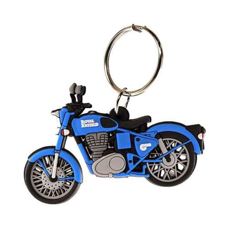 Delhi Deals Multi-Colour Rubber Double-Sided Bike Keychain for Royal Enfield
