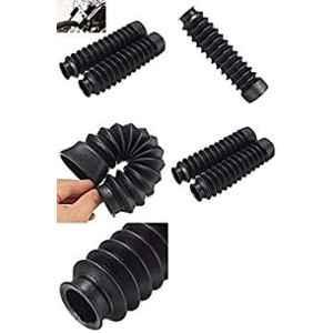 Meenu Arts 1 Pair Long Front Fork Shock Absorber Universal for All Bikes 20.5cm (Black)