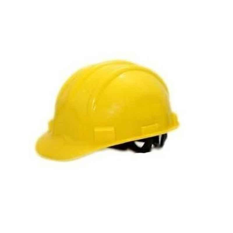 Heapro Yellow Nape Type Safety Helmet, HSD-001 (Pack of 15)
