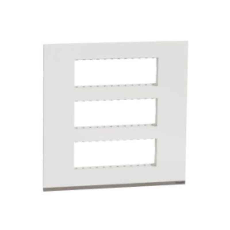 Schneider Unica Pure Plastic Surround Grid Plate, UNSCP18M_WE (Pack of 5)