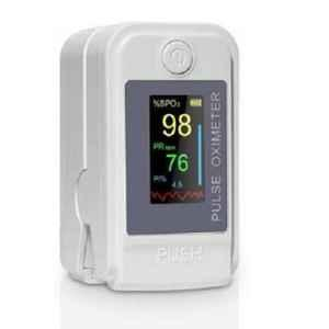 Pristyn Care White Fingertip Pulse Oximeter with Audio Visual Alarm