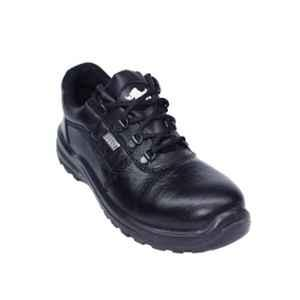 Coffer Safety CS-1024 Leather Steel Toe Black Safety Shoes, Size: 8