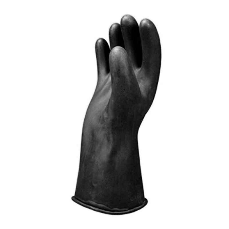 Salisbury E0011B 11 inch Black Class 00 Low Voltage Rubber Lineman Glove, Size: 9