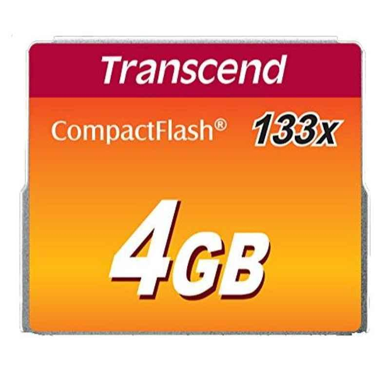 Transcend TS4GCF133 4GB 133x Compact Flash Card