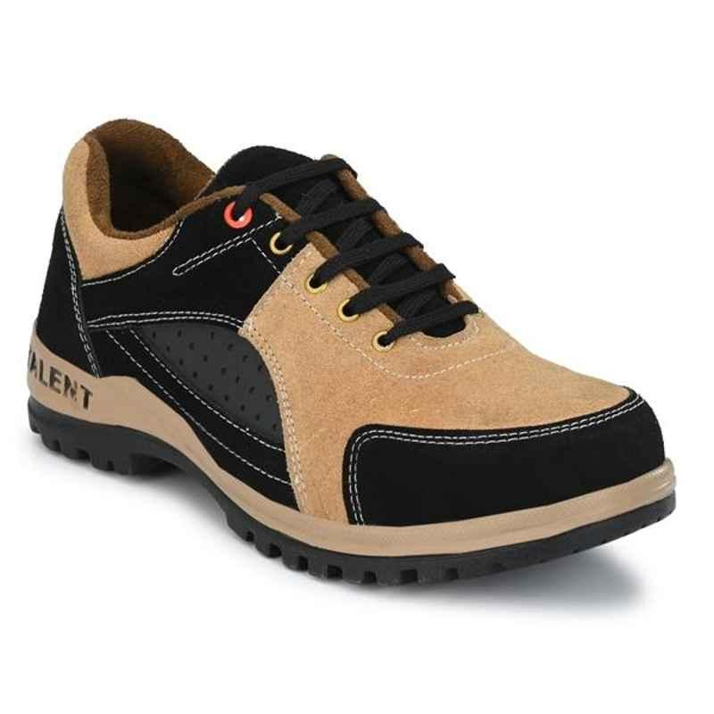 ArmaDuro AD1006 Suede Leather Steel Toe Tan Safety Shoes, Size: 9