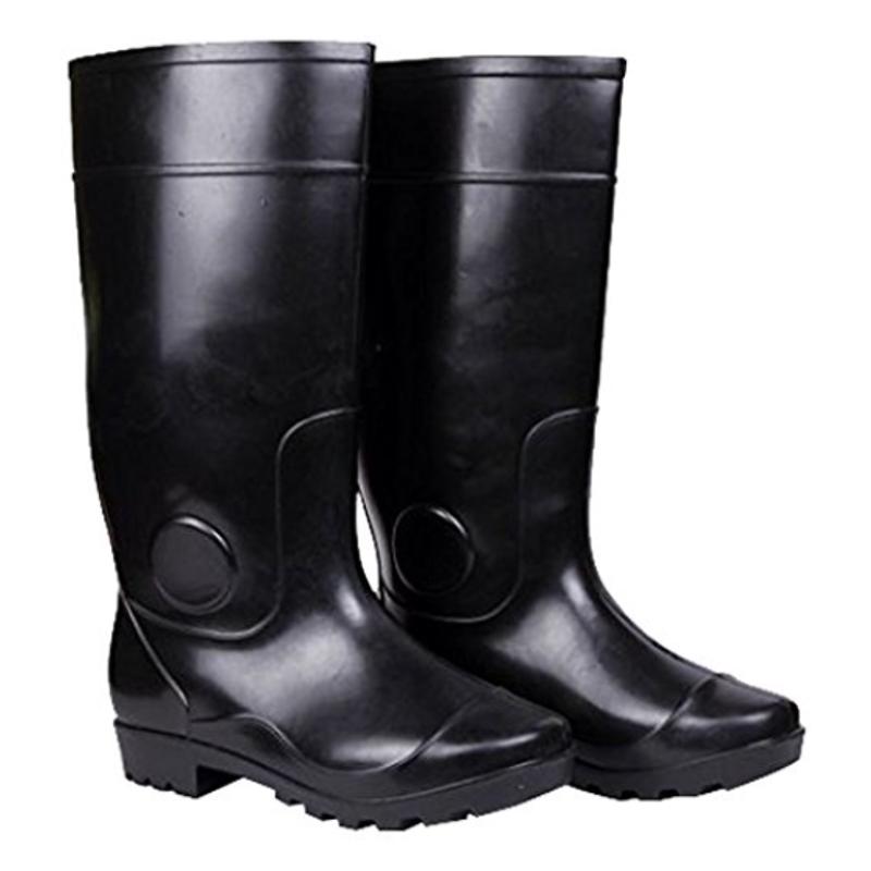 Hillson Century Plain Toe Black Gumboots, Size: 10