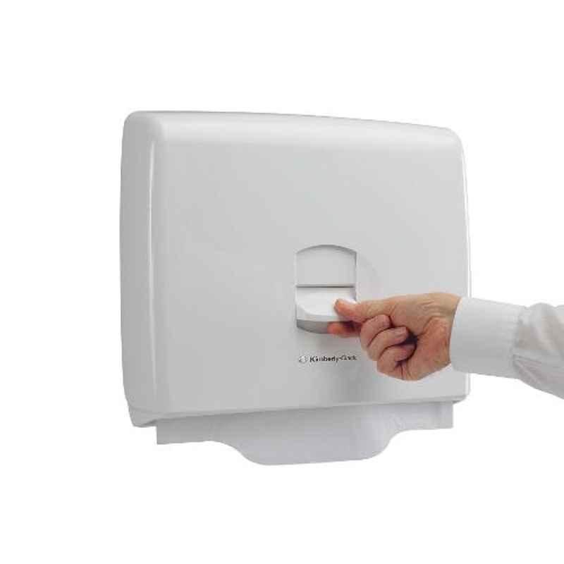 Kimberly-Clark Aquarius White Personal Toilet Seat Cover Dispenser, 69570