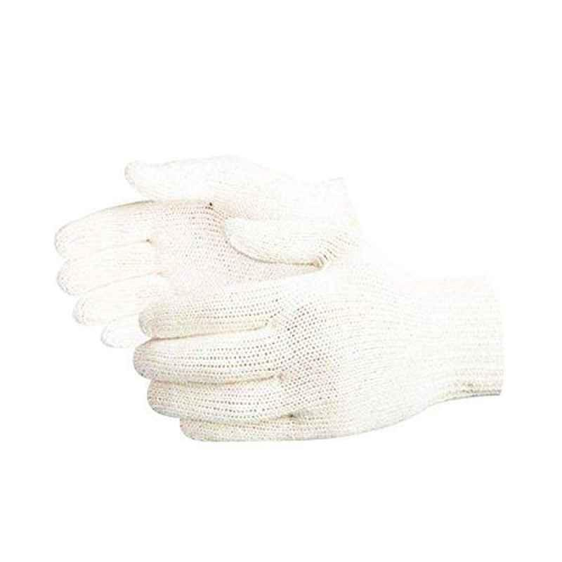 Siddhivinayak 60g White Knitted Hand Gloves (Pack of 60)