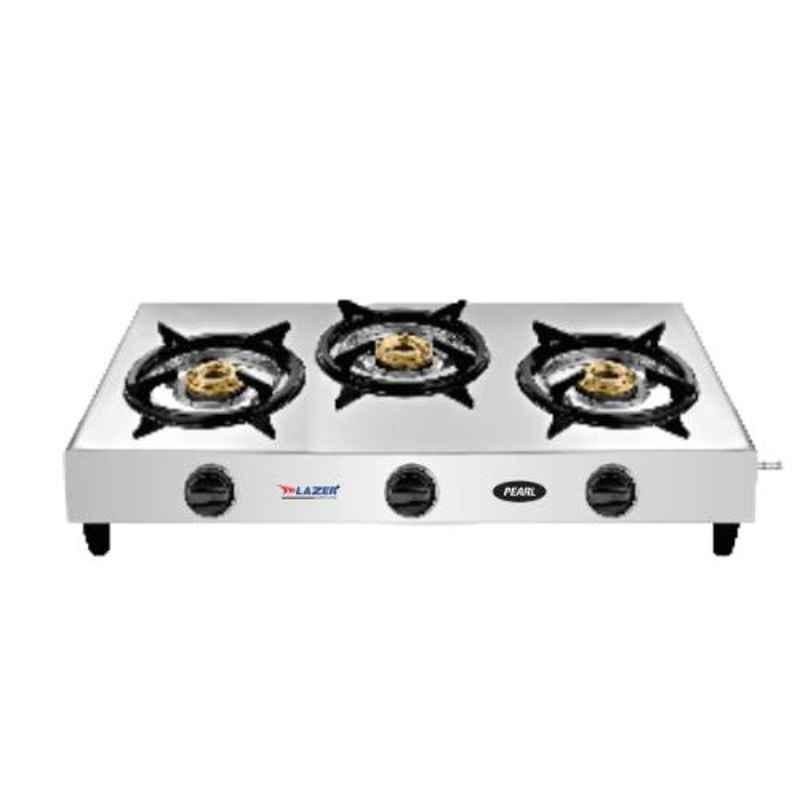 Lazer Pearl Stainless Steel 3 Burner Cooktop