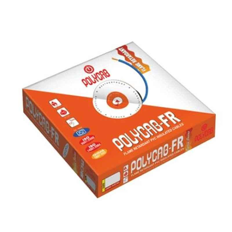 Polycab 25 Sqmm Single Core FR Red Copper Unsheathed Flexible Cable, Length: 100 m