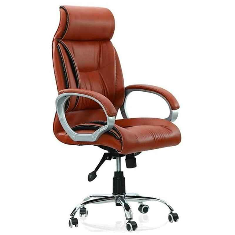 Caddy PU Leatherette Adjustable Study Chair with Back Support, DM128