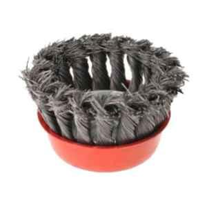 GSK Cut 3 inch Steel Twisted Wire Wheel Knotted Cup Brush