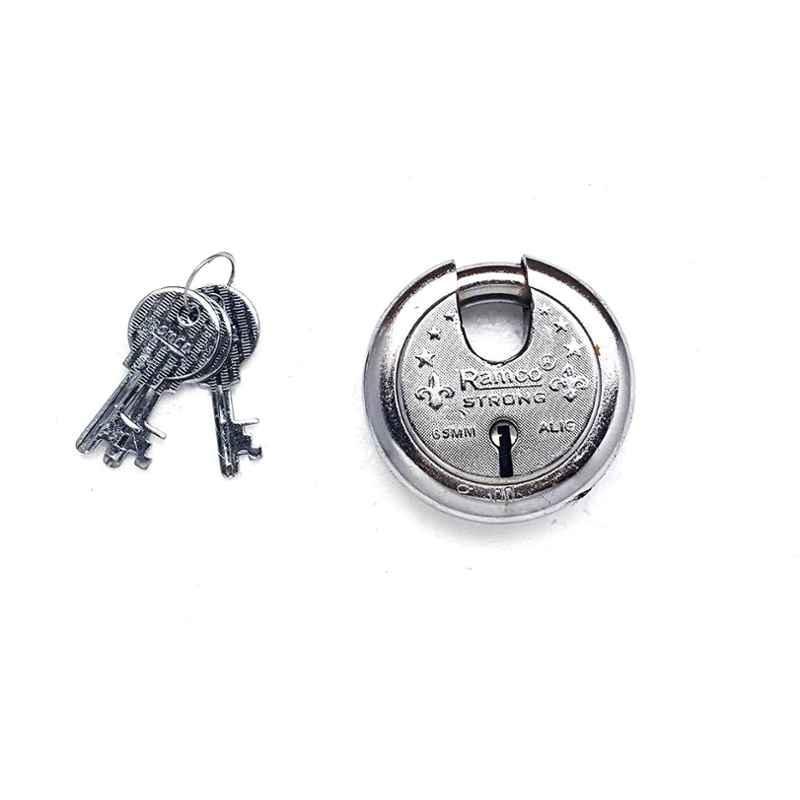 Smart Shophar 75mm Steel Silver Zip Action Medium Disc Shutter Lock, SLK80SL-ZIPA-MSL75-P1