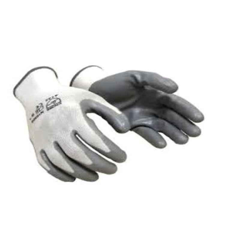 SRTL Cut Proof White & Grey Nitrile Coated Gloves, KH13