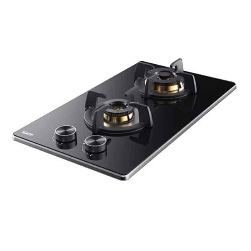 Kaff Bellini 2 Burners Automatic Ignition Black Glass Hob, BLH 302