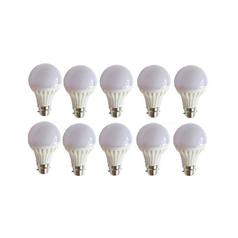 Urja Lite 7W B-22 White LED Bulbs (Pack of 10)