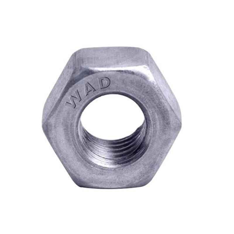 Wadsons M8x1.25mm White Zinc Finish Hex Nut, 8HN125W (Pack of 1000)