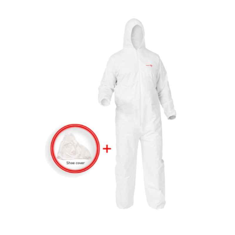 Eurosafe White Disposable Coverall, EC/WH