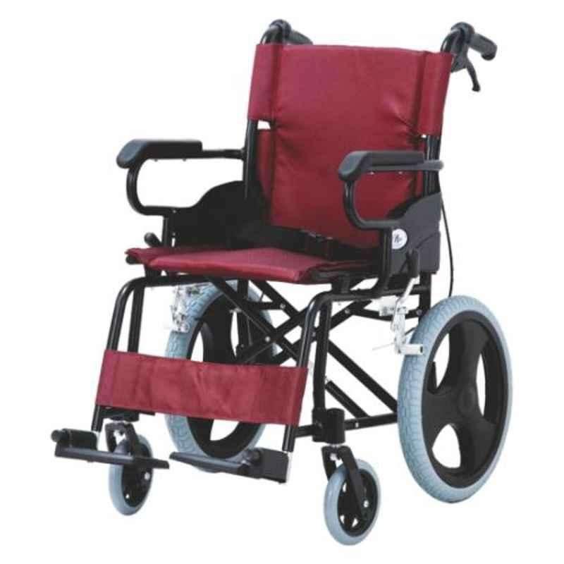 Easycare 100kg Portable Aluminum Lightweight Transport Chair with Locking Hand Brakes, EC871LBJ