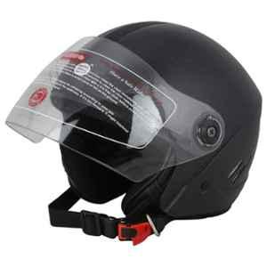 Love4ride Tizzy Black ISI Mark Open Face Helmet, Size: Large