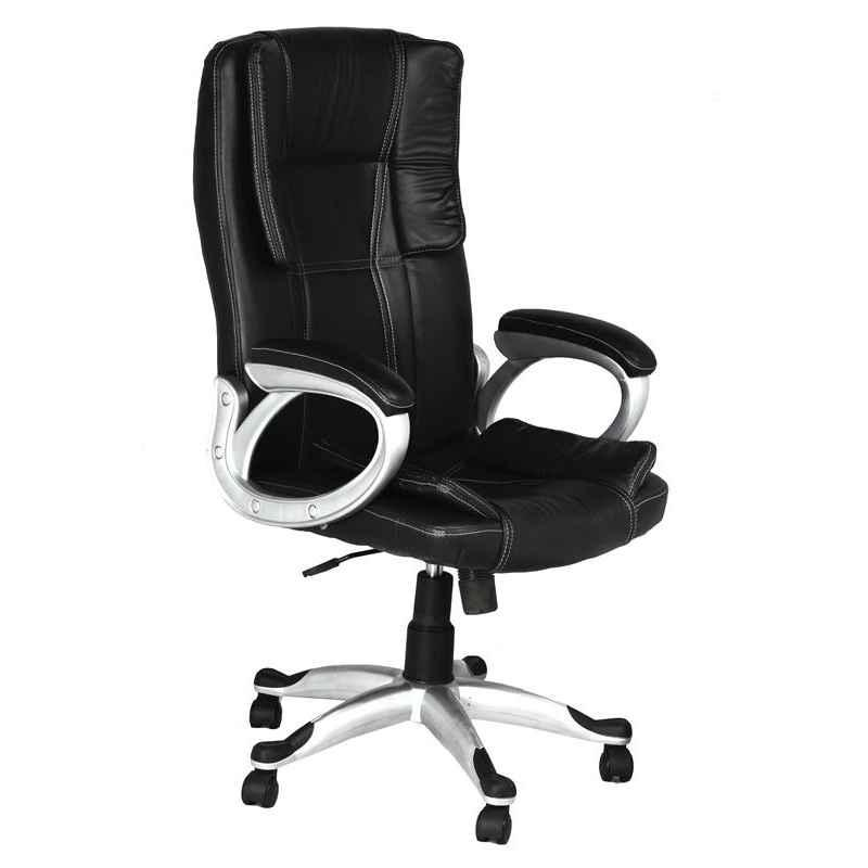 High Living Cupid Leatherette Medium Back Black Office Chair (Pack of 2)