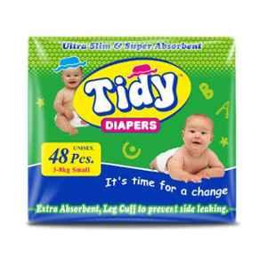 Tidy 48 Pcs Small Non-Woven Ultra Soft Baby Diapers, TBD-S-1
