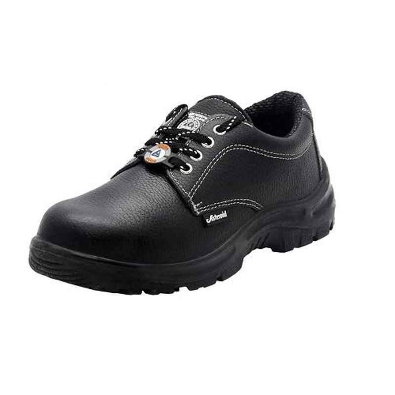 ACME SSNNYZ7 Asteroid Barton Leather Steel Toe Black Safety Shoes, Size: 7
