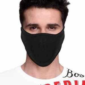 Gliders Black Skin Friendly Cotton Face Mask