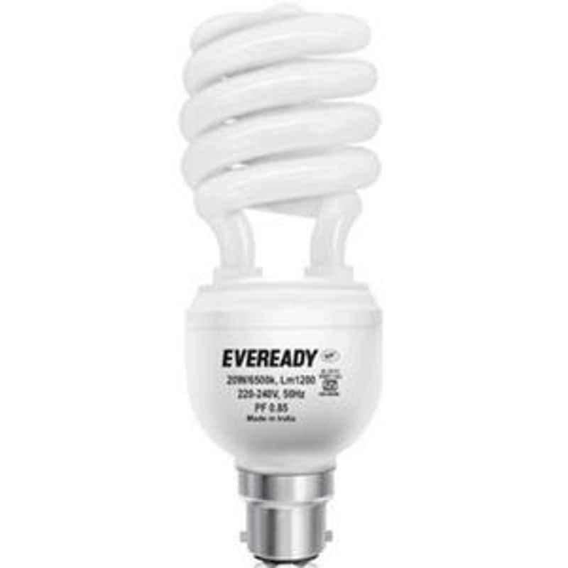 Eveready 15W Spiral HPF White CFL Bulb