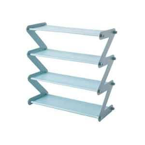 GTC 47.5x19x46cm 4 Shelves Z Type Blue Shoe Organizer Rack, S-352-1