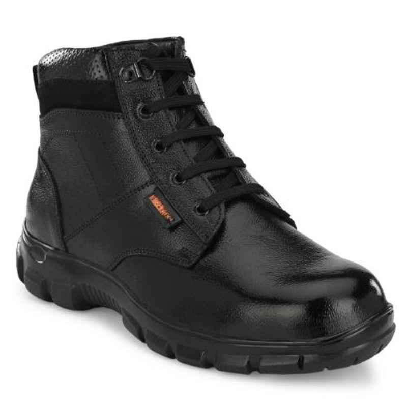 Timberwood TW38 Leather Steel Toe Airmix Sole Black Safety Boots, Size: 10