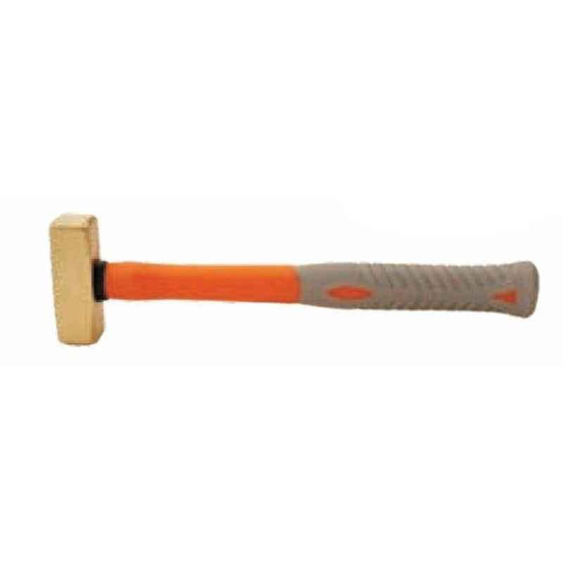De Neers 5000g Brass Hammer with Fiberglass Handle