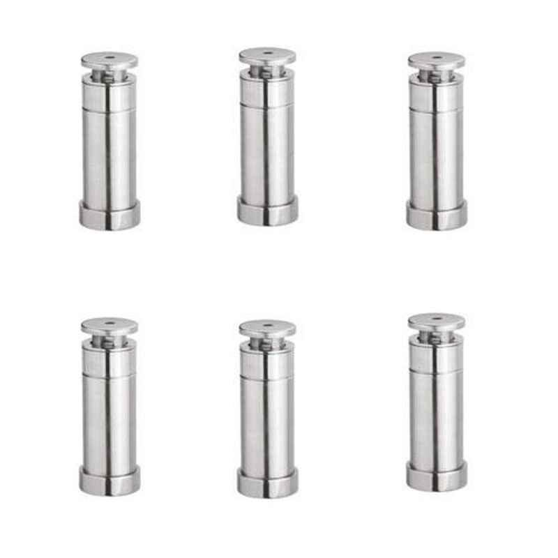 Nixnine Stainless Steel Heavy Duty Magnetic Door Stopper, SS_202_3IN_6PS (Pack of 6)
