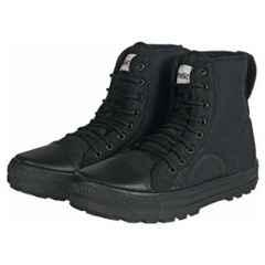 Unistar Synthetic Leather PVC Sole Black Safety Boots, 1001_Black, Size: 8