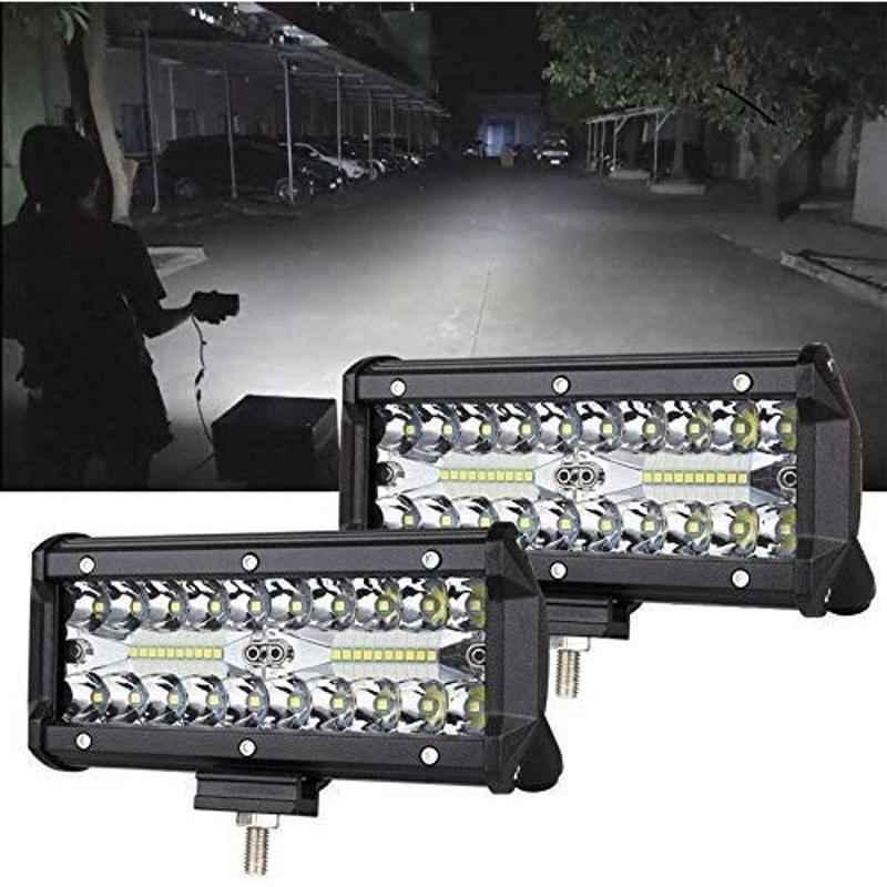 JBRIDERZ 120W White LED Bar Work Light for Bikes & Cars