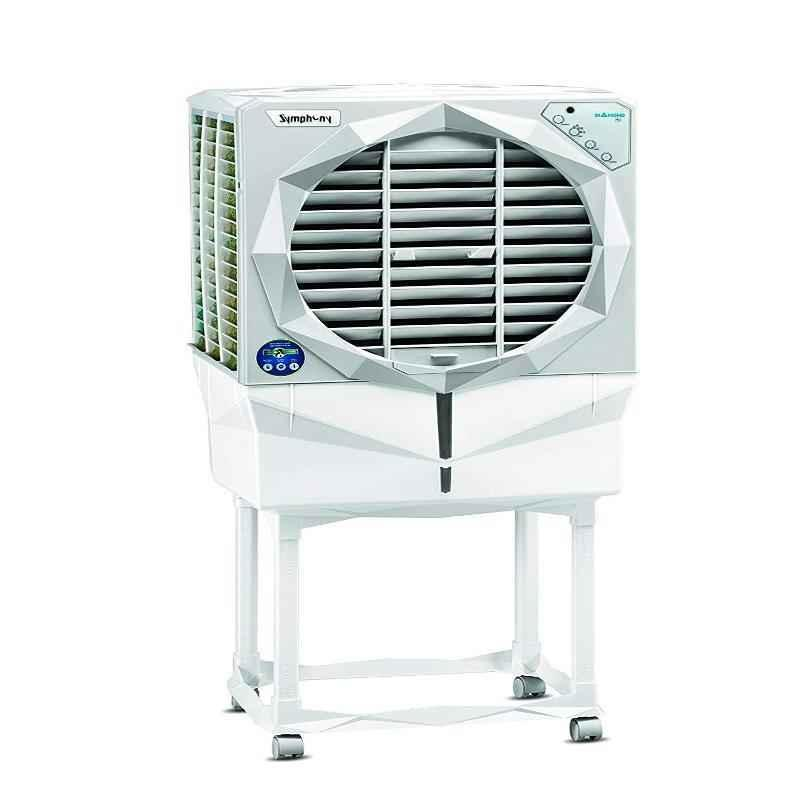 Symphony Diamond 41i 110W White Desert Cooler With Trolley
