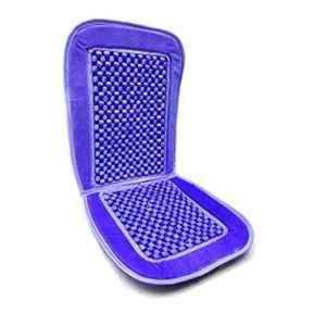 Oshotto Car Wooden Bead Seat Cushion with Velvet Border