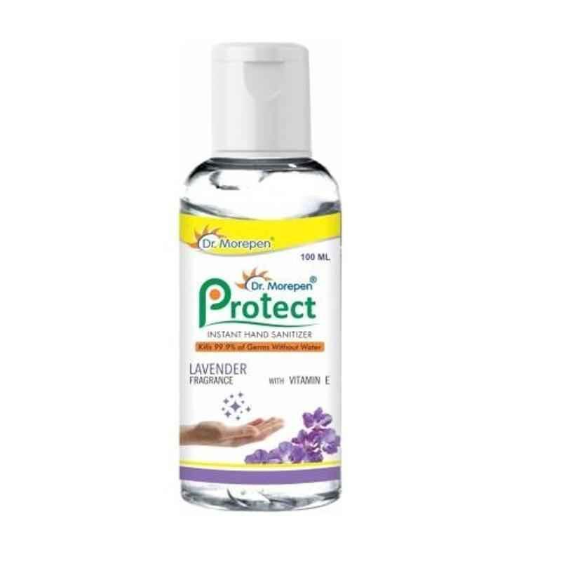 Dr. Morepen Protect 100ml Instant Hand Sanitizer Bottle (Pack of 5)