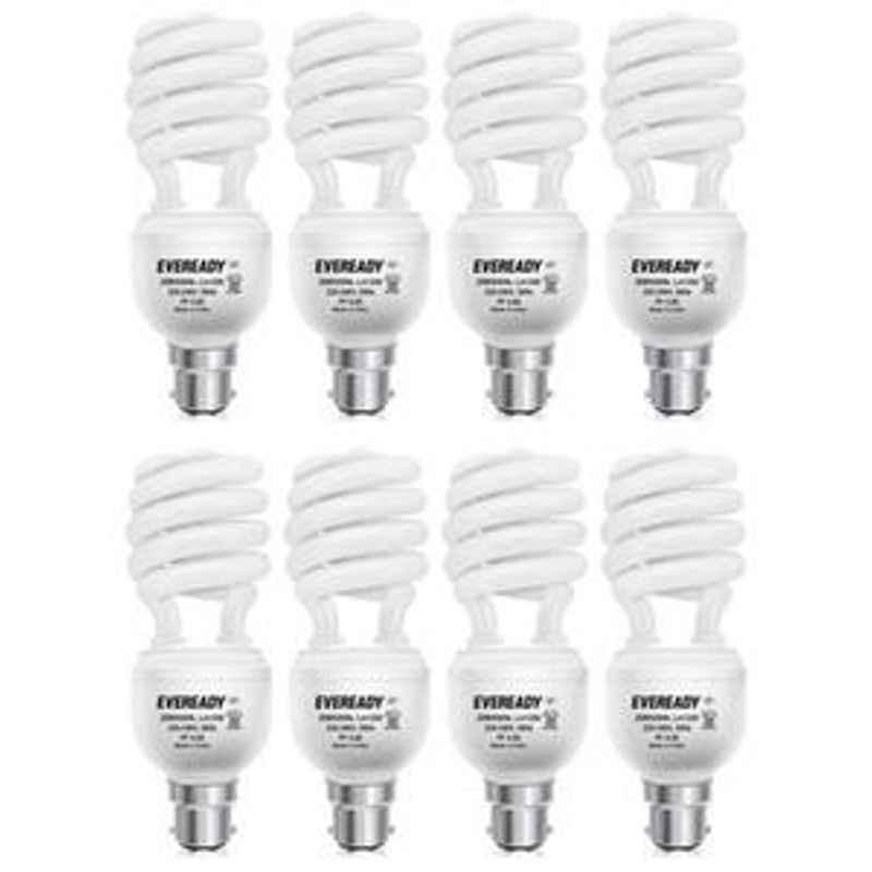 Eveready 23W Spiral 8Pcs HPF White CFL Bulb