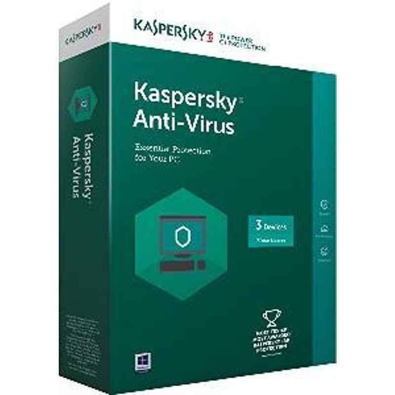 Kaspersky Antivirus 3Pcs 3Years For Windows Laptop & Desktop Software