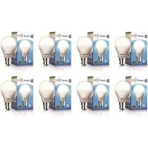 Wipro Tejas 9W Cool Day White Standard B22 LED Bulb, N95001 (Pack of 8)
