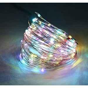 Tucasa DW-409 Multicolour LED Copper Wire String Light with Adapter (Pack of 2)