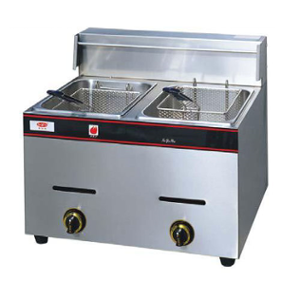 Taikong FO-GD Gas Deep Fryer Double Table top, Capacity: 12 L
