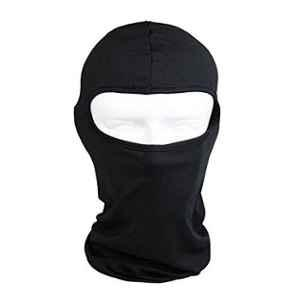AOW Polyester Full Face Mask for Bike Riding (Black)