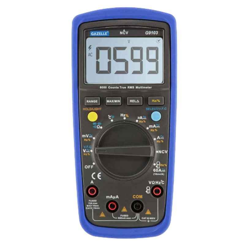 Gazelle 600V TRUE RMS Industrial Digital Multimeter, G9103