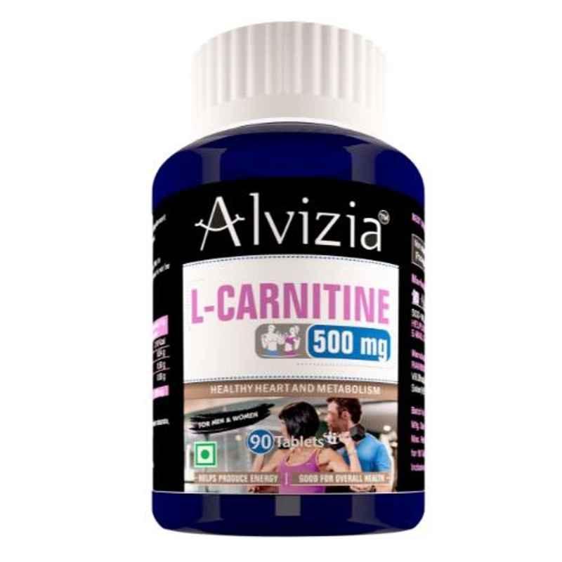 Alvizia 90 Pcs Tablets 1000mg L-Carnitine L-Tartrate & Amino Acid Workout Supplements Bottle